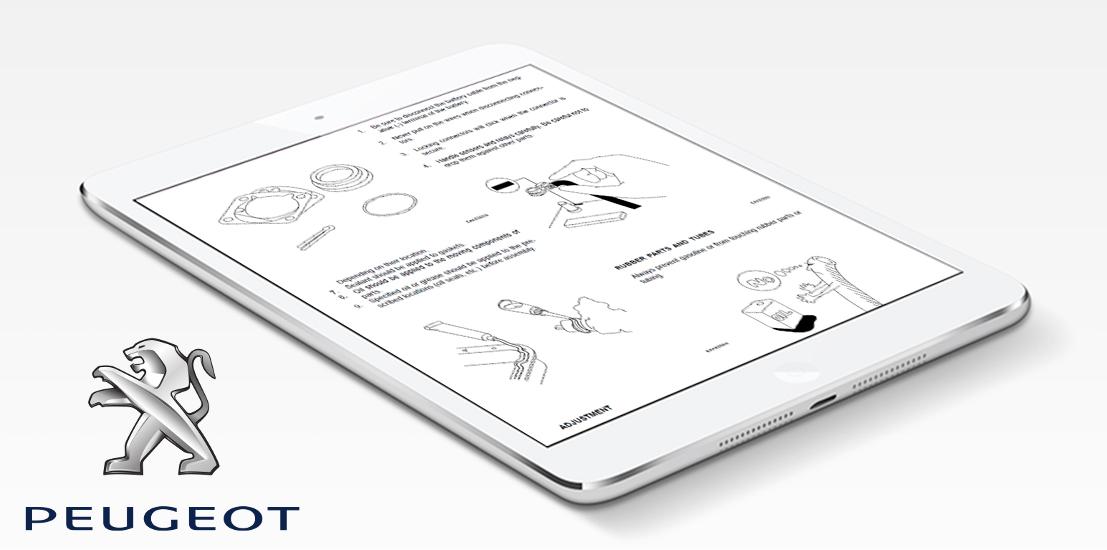 peugeot repair & service manual - choose your vehicle (instant, Wiring diagram